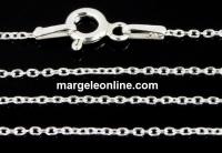 Lant zale ovale, argint 925, 60cm - x1