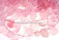 Pink quartz rough stone, free form, 21-25mm