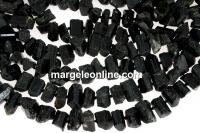 Black tourmaline rough stone, free form, 7-10mm