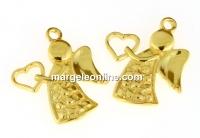 Pandantiv ingeras, argint 925 placat cu aur, 16.5x14.5mm - x1