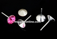 Tortite cercei  argint 925 chaton de 4mm - x1per