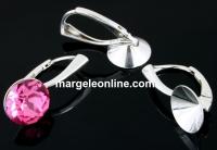 Baza click cercei argint 925, chaton 10mm - x1per