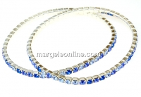 Bratara Swarovski 1088 mix aqua blue, placata cu argint, 18cm - x1