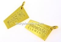 Pandantiv Made with Swarovski elements argint 925 placat cu aur - x1