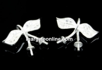 Baza pandantiv argint 925 frunze de cirese,cupa 3mm,15mm - x1