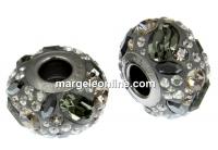 Swarovski, becharmed pave, hematite - x1