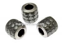 Swarovski, becharmed pave mettalics gun metal brushed, 9.5mm - x1