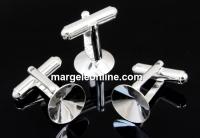 Baze butoni argint 925 pentru rivoli de 12mm - x1 pereche