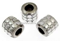 Swarovski, becharmed pave mettalics silver polished, 9.5mm - x1