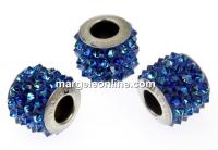 Swarovski, becharmed pave bermuda blue, 9.5mm - x1