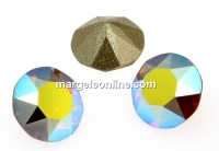 Swarovski, chaton SS39, sand opal aurore boreale, 8mm - x2