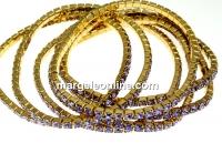 Bratara Swarovski 1088 tanzanite, placata cu aur, 18cm - x1