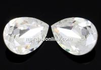 Swarovski, fancy picatura, crystal, 14x10mm - x1