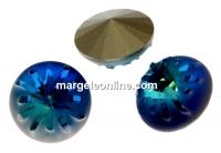Swarovski, fancy rivoli Sea urchin, bermuda blue, 10mm - x1