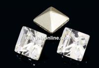 Swarovski, fancy chaton Square, crystal, 2mm - x20