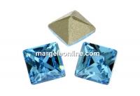 Swarovski, fancy chaton Square, aquamarine, 2mm - x20