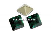 Swarovski, fancy chaton Square, emerald, 2mm - x20