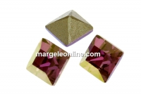 Swarovski, fancy chaton Square, lilac shadow, 3mm - x10