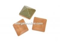Swarovski, fancy chaton Square, light peach matt, 3mm - x10
