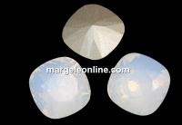 Swarovski, fancy square, white opal, 12mm - x1