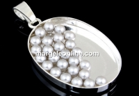 Perle Swarovski FARA orificiu, light grey, 3mm - x50