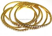 Bratara Swarovski 1088 crystal, placata cu aur, 18cm - x1