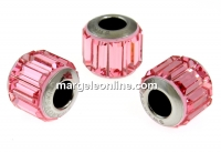 Swarovski, becharmed pave light rose, 10.5mm - x1