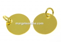Charm banut, argint 925 placat aur, 10mm - x1