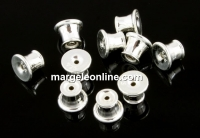 Stopper pentru cercei , argint 925 placat cu rodiu, 5x4mm - x2