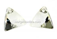 Swarovski, pandantiv triunghi, silver shade, 12mm - x1