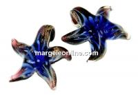 Pandantiv stea de mare albastru, 27mm - x1