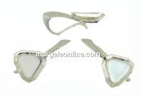 Baza pandantiv argint 925, cabochon Swarovski 4841 cub 4mm - x1