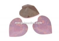 Swarovski, fancy chaton inima, rose water opal, 6mm - x4