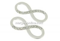 Link infinit cu cristale argint 925, 20mm  - x1