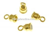 Terminatie bratari si coliere, argint 925 pl cu aur, interior 4mm - x2