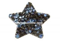Swarovski, pand. f. rocks, black moonlight, 22mm - x1