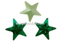 Swarovski, fancy star, emerald, 10mm - x1