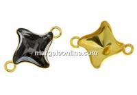 Baza link argint 925 aurit, romb pt Swarovski 4485 de 10.5mm - x1