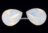 Swarovski, fancy picatura, white opal, 10x7mm - x1