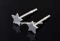 Tortite cercei steluta, argint 925, 4.5mm - x1per