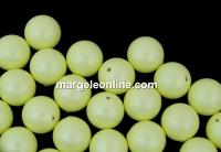 Perle Swarovski cu un orificiu, pastel yellow, 10mm - x2