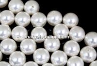 Perle Swarovski cu un orificiu, white, 10mm - x2