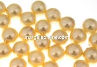 Perle Swarovski cu un orificiu, light gold, 8mm - x2