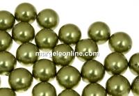 Perle Swarovski cu un orificiu, light green, 4mm - x4