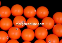 Perle Swarovski cu un orificiu, neon orange, 10mm - x2