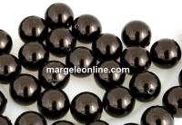 Perle Swarovski cu un orificiu, deep brown, 4mm - x4