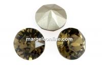 Swarovski, chaton ss34, smoky quartz, 7mm - x2