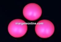 Swarovski, cabochon perla cristal, neon pink, 6mm - x2