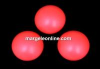 Swarovski, cabochon perla cristal, neon red, 10mm - x2