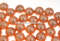 Perle Swarovski cu un orificiu, rose peach, 6mm - x4